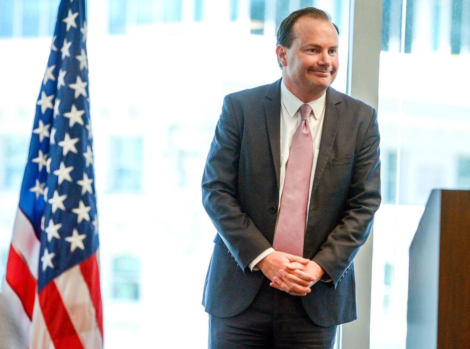 Utah Sen. Mike Lee is one of two U.S. senators who have stalled a fundraising bill for 9/11 first responders. (Leah Hogsten/The Salt Lake Tribune via AP)