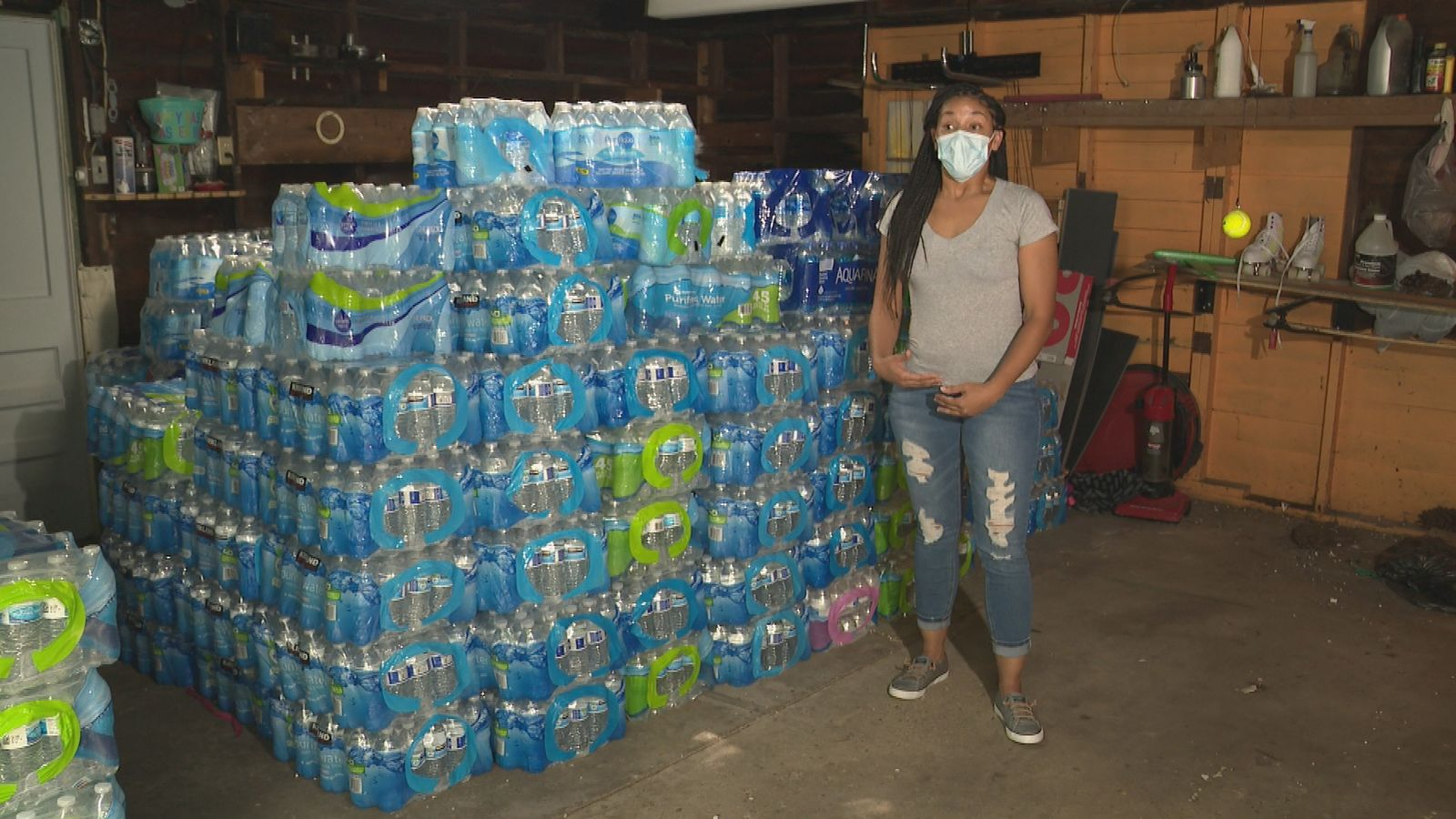 Tamara Custard, the CEO of Village in the Valley speaks to Newschannel 3 on Tuesday, July 27, 2020. Her plan to collect{ } water for Flint will then be followed by a campaign of creating more awareness of the water crisis. (WWMT/Jason Heeres)
