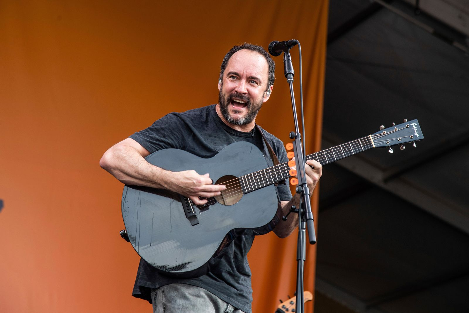 FILE - This May 4, 2019 file photo shows Dave Matthews of the Dave Matthews Band performing at the New Orleans Jazz and Heritage Festival in New Orleans.  The Dave Matthews Band are among the 16 acts nominated for the Rock and Roll Hall of Fame's 2020 class. (Photo by Amy Harris/Invision/AP, File)