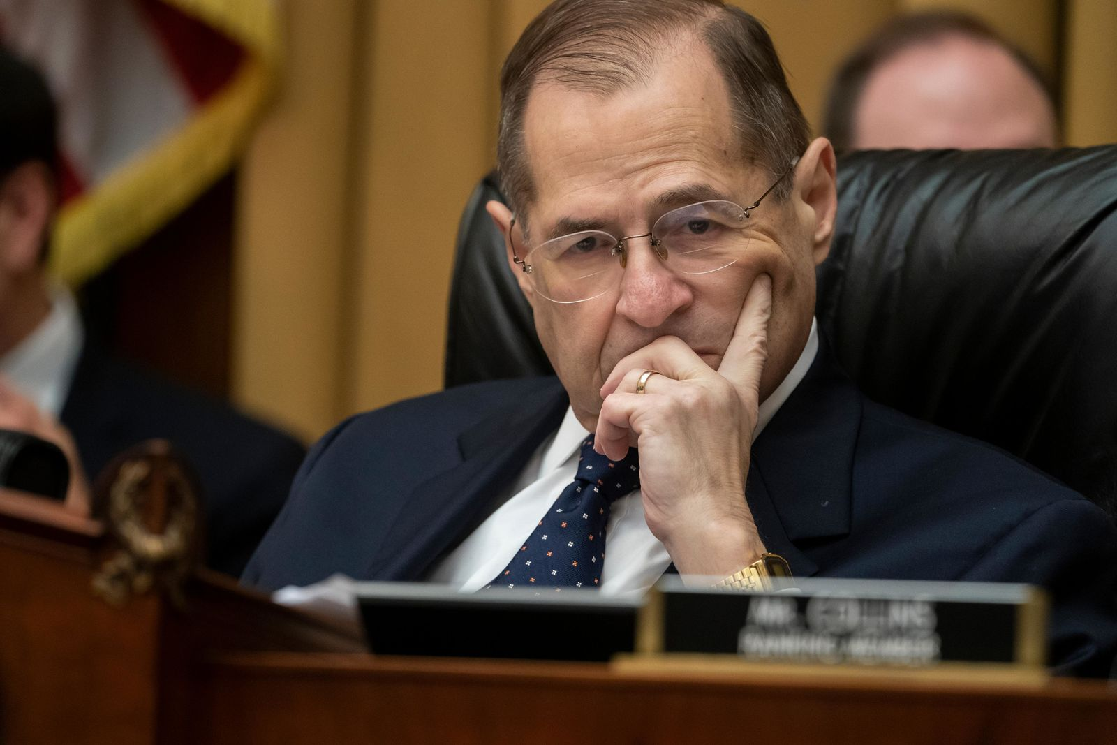 House Judiciary Committee Chair Jerrold Nadler, D-N.Y., moves ahead with a vote to hold Attorney General William Barr in contempt of Congress after last-minute negotiations stalled with the Justice Department over access to the full, unredacted version of special counsel Robert Mueller's report, on Capitol Hill in Washington, Wednesday, May 8, 2019. (AP Photo/J. Scott Applewhite)