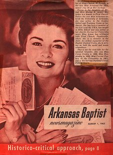 Axum on the cover of Arkansas Baptist after being name Miss Arkansas in 1963.(Photo: Pryor Center)