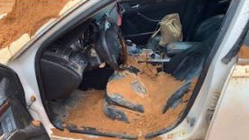 <p>REPORT: Crestview man arrest for criminal mischief after dumping heaps of dirt on car. (Source: Okaloosa County Sheriff's Office/ Photo: picture of 2010 Cadillac)</p>