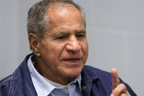 Sirhan Sirhan, convicted of assassinating Sen. Robert F. Kennedy in 1968, gestures during a Board of Parole Suitability Hearing in 2011. (AP Photo/Ben Margot)