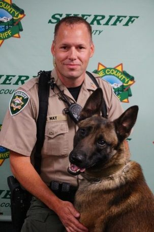 Hektor joined the sheriff's office in 2018. He works - and lives - with Deputy Ray May. (LCSO)
