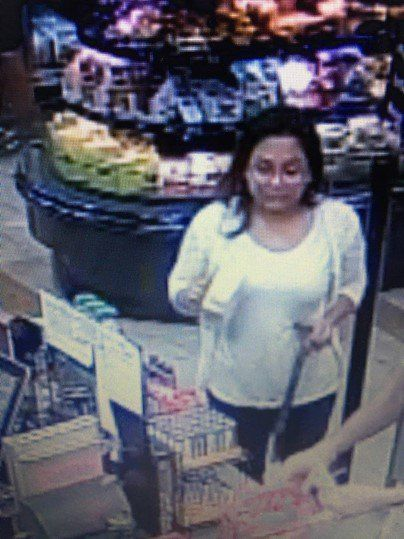 Sharena Nancy is seen on surveillance video on the day Nalani Johnson disappeared. (FBI)