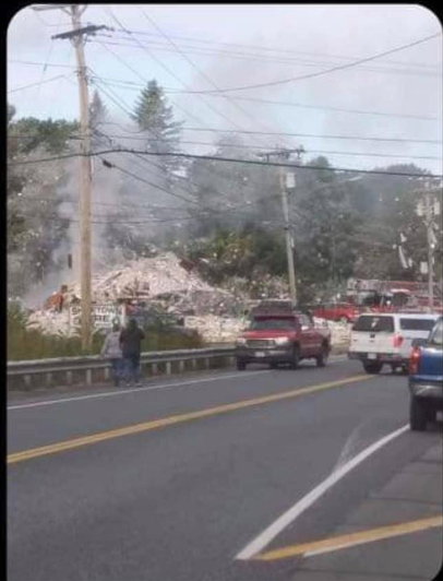 Explosion in Farmington (Courtesy:{ }Karen Barrett via WGME)