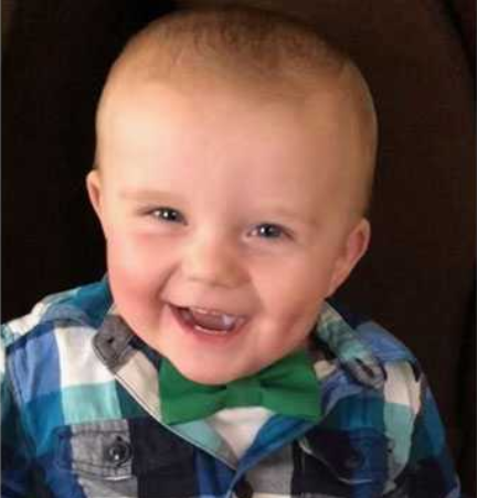 Baby shot in the face, allegedly by his father. (Photo: AP)<p></p>