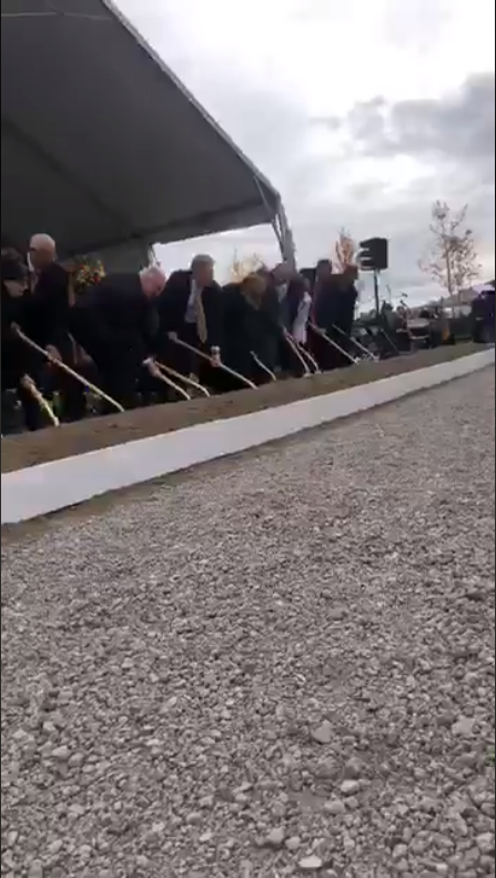 A huge crowd gathered at an empty lot in Saratoga Springs' Beacon Pointe subdivision for the groundbreaking ceremony for the new temple of The Church of Jesus Christ of Latter-day Saints. (Photo: Randy Likness / KUTV)