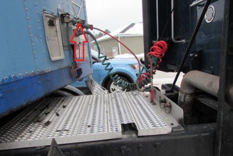 Maine State Police say they stopped two unsafe tractor trailers Friday. (Maine State Police)