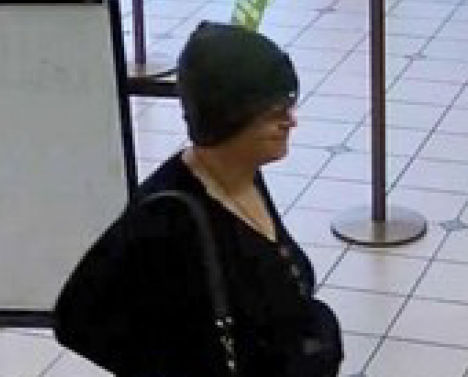 Security camera images of the woman who robbed the Oregon Community Credit Union on Chad Drive last month will be featured on the FBI's Unknown Bank Robbers page in an effort to generate tips to identify the woman. Anyone with information is asked to submit a tip Eugene Police Department at (541) 682-5111. (FBI)
