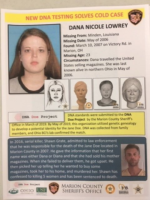 <p>The victim was identified Tuesday June 4, 2019 as Dana Nicole Lowrey, who was 23 at the time of her death. The sheriff said Lowrey's body was found on Victory Road in Marion. (WSYX/WTTE)</p>