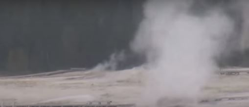 Officials at Yellowstone National Park say new thermal activity occurred at the park over the past several days. (Photo: Screen grab from YouTube video by the Geyser Observation And Study Association)