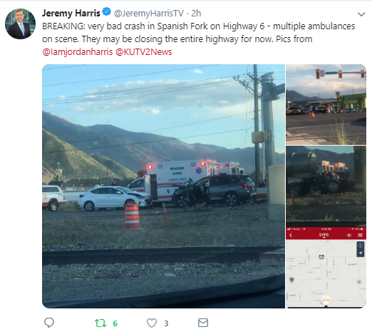 Woman killed after SUV slams into Porsche, motorcycle in Spanish Fork Canyon. (Photo: Jordan Harris)
