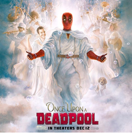 New Deadpool poster resembles LDS-commissioned painting of Jesus Christ (20th Century Fox)