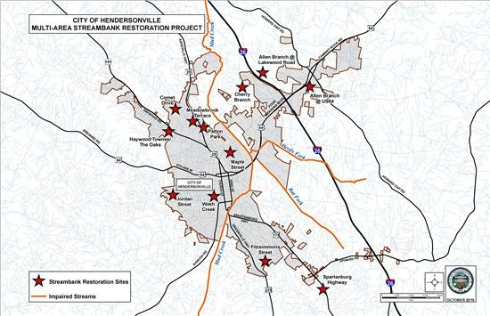 13 different sites will see strembank restoration work over 10 month. (Photo credit: City of Hendersonville)