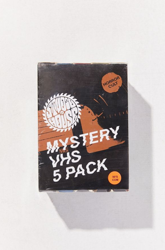 Urban Outfitters selling sets of 5 used VHS tapes for $40. (Photo: Screengrab from UrbanOutfitters.com)