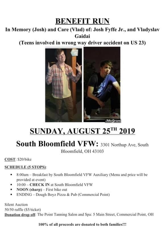 A community in Pickaway County celebrated the life of a teen, Josh Fyffe who was killed Saturday night by a wrong-way driver. His friend, Vlad Gaidai who was with him in the car passed away Wednesday night.{ } (Courtesy: Teays Valley Local Schools){ }