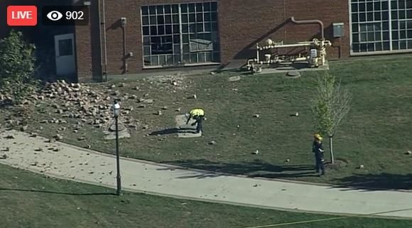 The explosion occurred outside Baltimore at the McDonogh School in Owings Mills. The private school was founded in 1873 as a farm school for poor boys and now enrolls about 1,400 students from pre-kindergarten through grade 12 and has nearly 200 full-time faculty members. (Photo: WJLA)