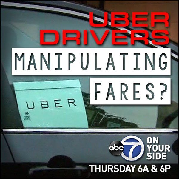 Uber and Lyft drivers manipulate fares at Reagan National causing artificial price surges.  Thursday, May 16, 2019. (WJLA){&nbsp;}<p></p>