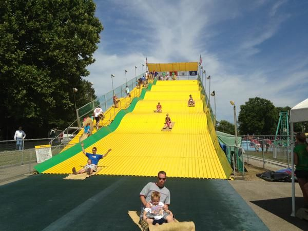 The Giant Slide at the Illinois State Fairgrounds (Prairie State Bank & Trust)