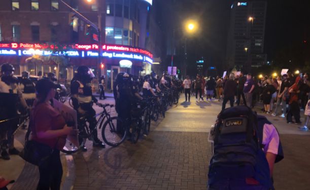 As protesting continues in Minneapolis over the killing of George Floyd, protestors also gathered in downtown Columbus. (WSYX/WTTE){ }