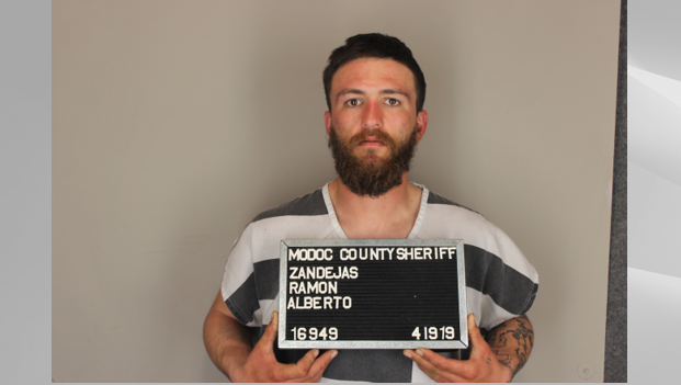 Ramon Alberto Zendejas, 25. Photo courtesy of the Modoc County Sheriff's Office.