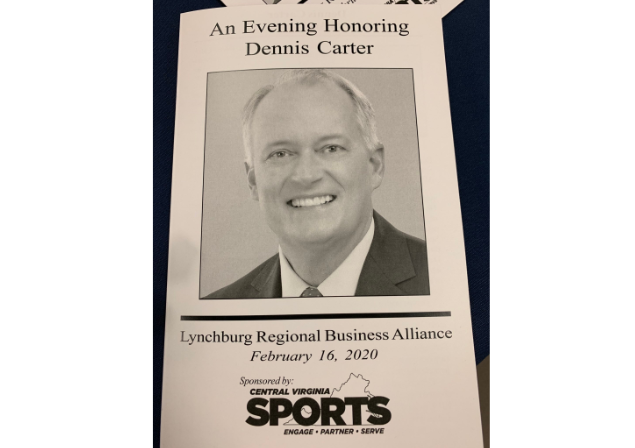 Hundreds of people turned out to the Lynchburg Regional Business Alliance to celebrate the career of our very own Dennis Carter. (WSET)
