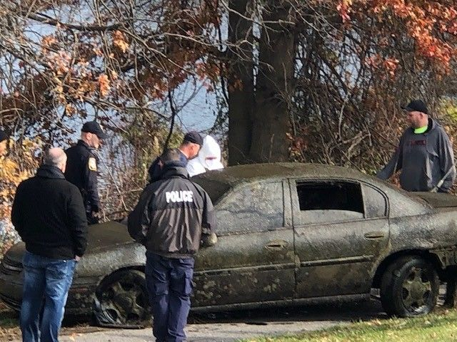 Vehicle pulled from a pond in Dundalk (Photos and Video Courtesy of Beverly Sullivan)