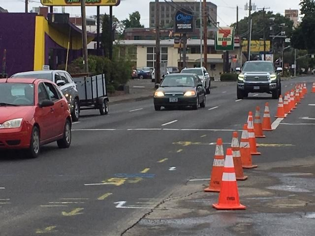 "<p>""The traffic impacts are significant here,"" Joe Harwood with the Eugene Water & Electric Board said. ""People should avoid the intersection of Hilyard and East Broadway. It's restricted in all directions."" (SBG)</p>"
