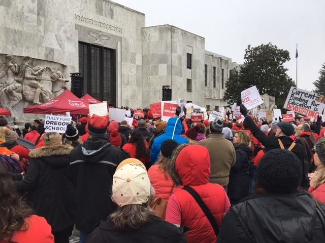 Thousands of educators and students gather at State Capitol to protest for more funding