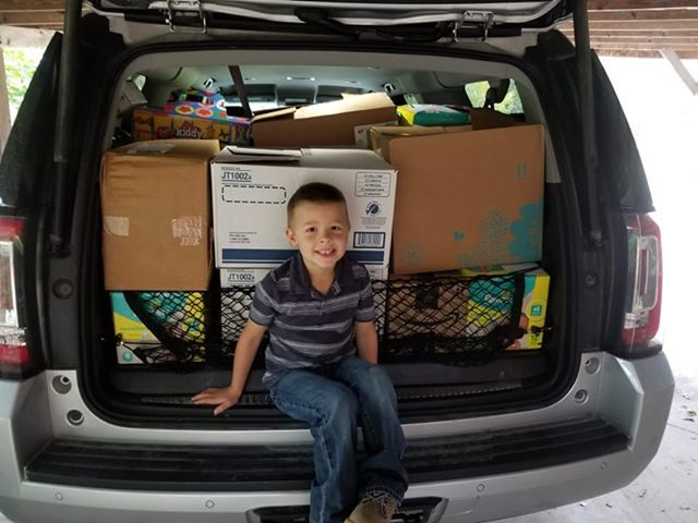 5-year-old cancer survivor donates over 3,000 toys to Hershey Children's Hospital (Photo Courtesy of Michelle Marsh Erno)