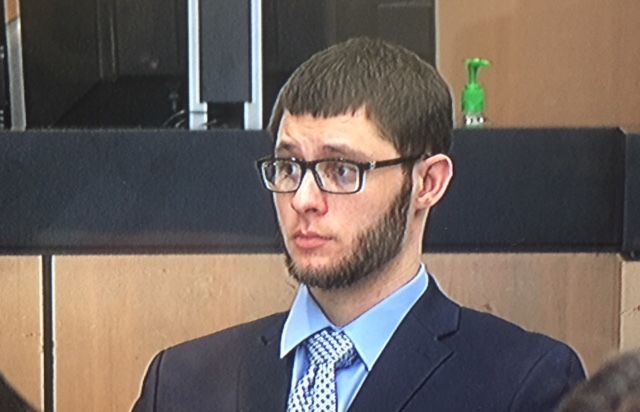 Christopher Vasata, in court for jury selection on Friday.{&nbsp;} Vasata faces three counts of first degree murder in the 2017 Super Bowl party triple killing in Jupiter.{&nbsp;} (WPEC)<br>