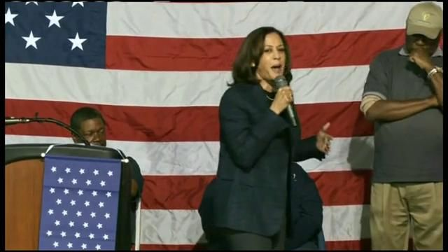 Kamala Harris, Cory Booker & Tom Steyer attend The Betty Henderson Elected Officials and Candidates (CNN Newsource)