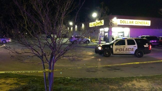 The Pensacola Police Department (PPD) says one person was shot in a robbery Wednesday night at a Dollar General/WEAR