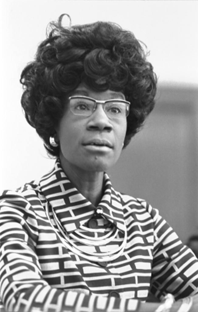 Congresswoman Shirley Chisholm, first black woman elected to Congress, announcing her candidacy for presidential nomination. Courtesy: Library of Congress