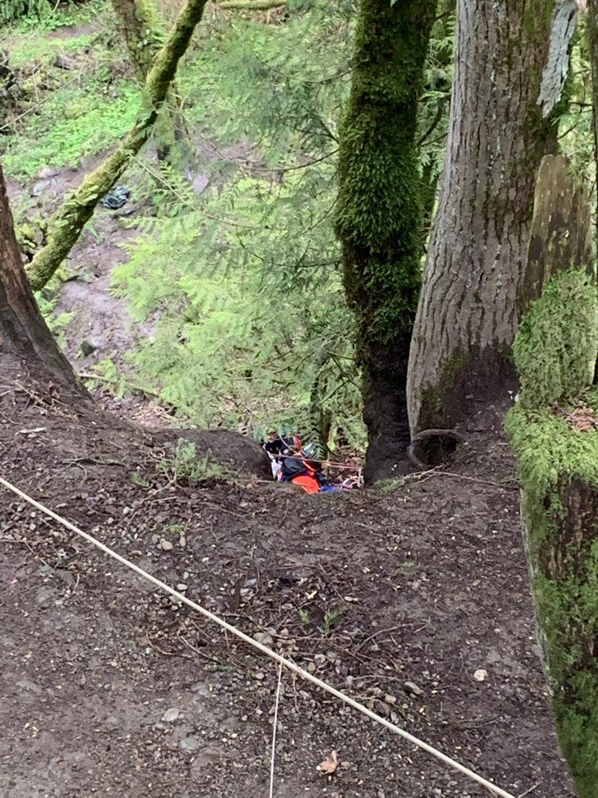 Firefighters in East Pierce County are working Wednesday afternoon to rescue a teenage girl who plunged from Victor Falls. (Photo: East Pierce Fire)