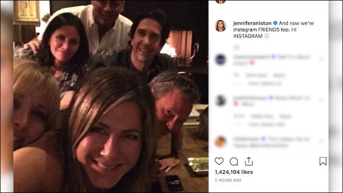Jennifer Aniston set a record for reaching one million Instagram followers the fastest. (CNN Newsource)