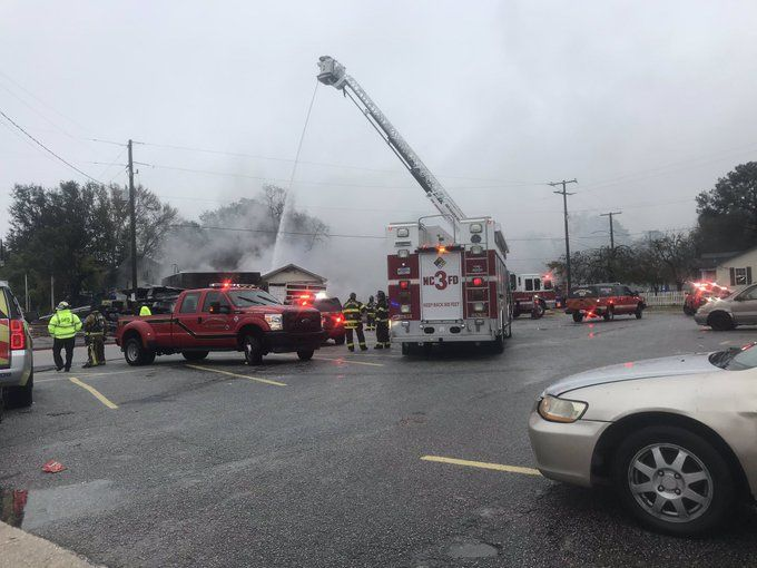 The North Charleston Fire Department says they're working on a fire off Dorchester Road near I-26. (WCIV)