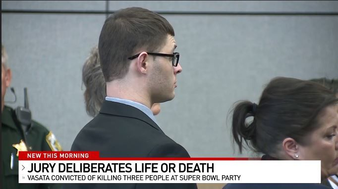 A jury found Christopher Vasata guilty of killing 3 people at a party on Super Bowl Sunday in Jupiter in 2017. (WPEC)