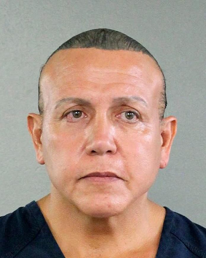 FILE - This Aug. 30, 2015, file photo released by the Broward County Sheriff's office shows Cesar Sayoc in Miami. The Florida man who authorities say sent pipe bombs to prominent critics of President Donald Trump, is expected to plead guilty in Manhattan federal court on Thursday, March 21, 2019. (Broward County Sheriff's Office via AP, File)