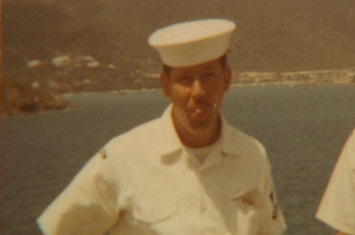 <p>Jim joined the Navy in 1966. He served until 1972 in aviation maintenance administration, for a time aboard the USS Roosevelt. (SBG)</p>