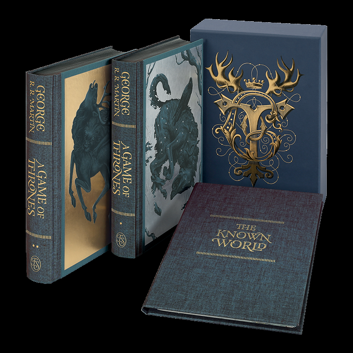 "The Folio Society presents its new Collector's Edition of{ }George R. R. Martin's ""A Game of Thrones,"" the first in their landmark series of ""A Song of Ice and Fire"" with illustrations by award-winning artist Jonathan Burton. (Photo: The Folio Society)"