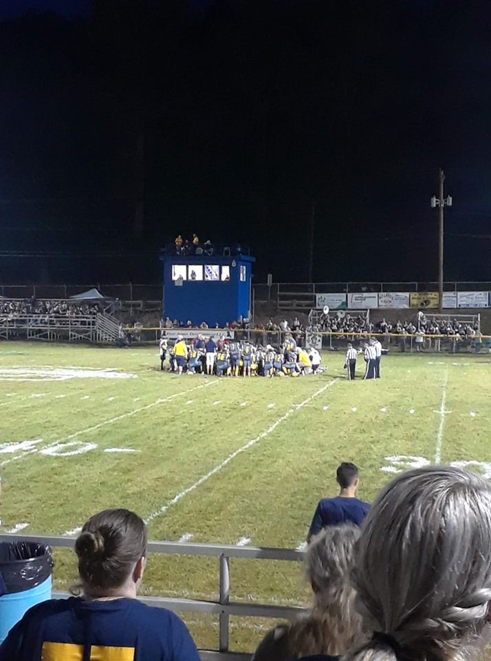 Troopers say a Roane County player passed out during Friday's game at Clay and was taken to the hospital. The game has been postponed to Saturday night. (Ashley Truman)