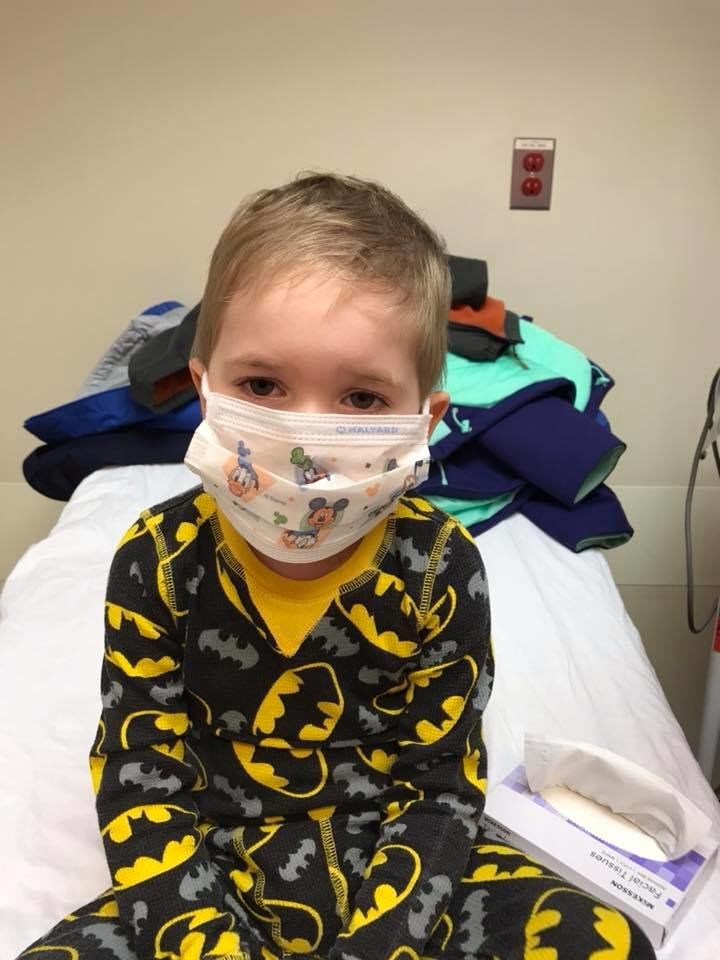 Dylan Akers, 5,{ }has been battling acute lymphoblastic leukemia (ALL) since the age of two. He will receive his last IV chemo treatment on Wednesday followed by a parade with neighbors, law enforcement, and dozens of cars. (Melissa Akers)
