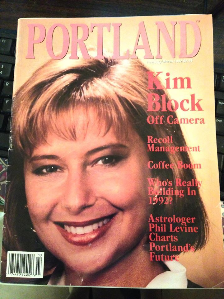 Kim Block on 1992 cover of Portland Magazine (WGME)