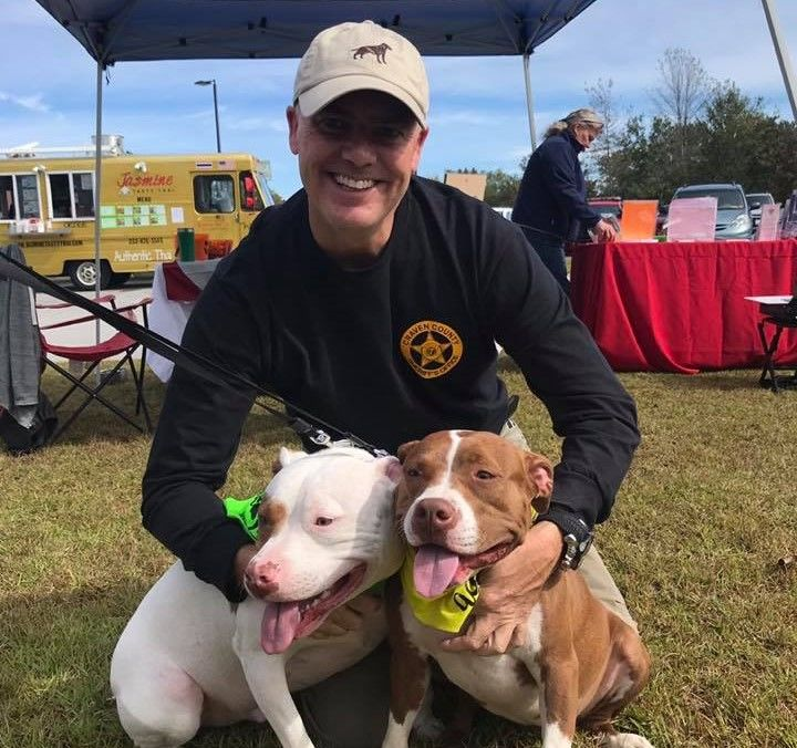 Sheriff Chip Hughes at the Craven County Pet Expo (Photo courtesy Craven County Sheriff's Office)<p></p>