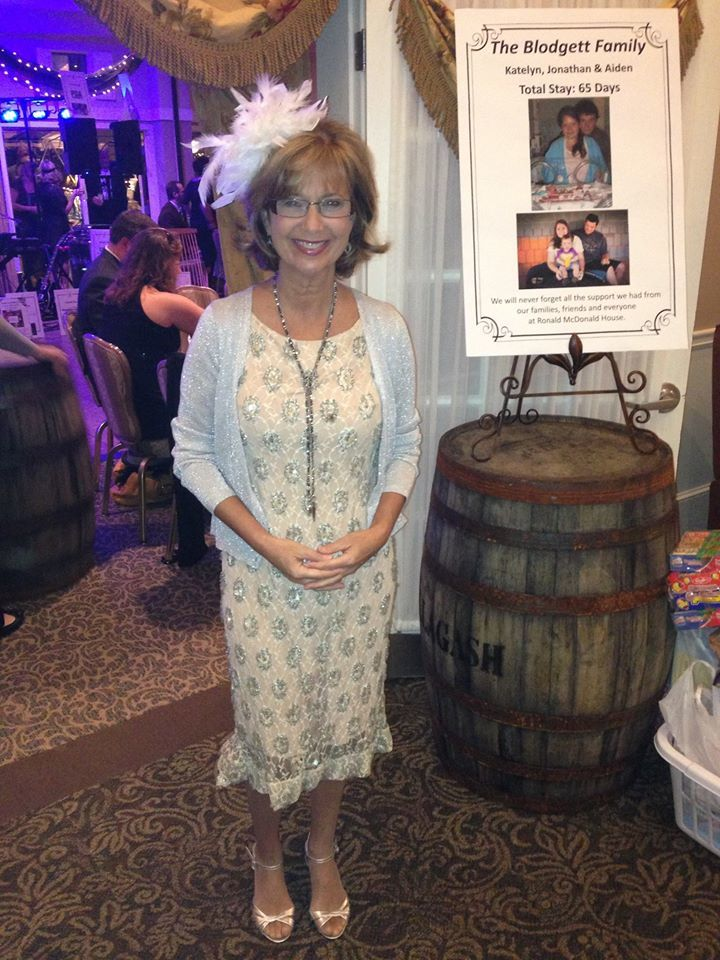Kim Block at{ } 1920's themed Ronald McDonald House gala in 2013 (WGME)