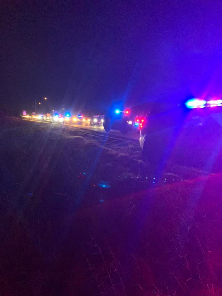 Gunfire erupts on I-5 after a police chase in Grand Mound, Wash., leaving a suspect and police dog wounded. (Photo: Thurston County Sheriff's Office)<p></p><p></p>