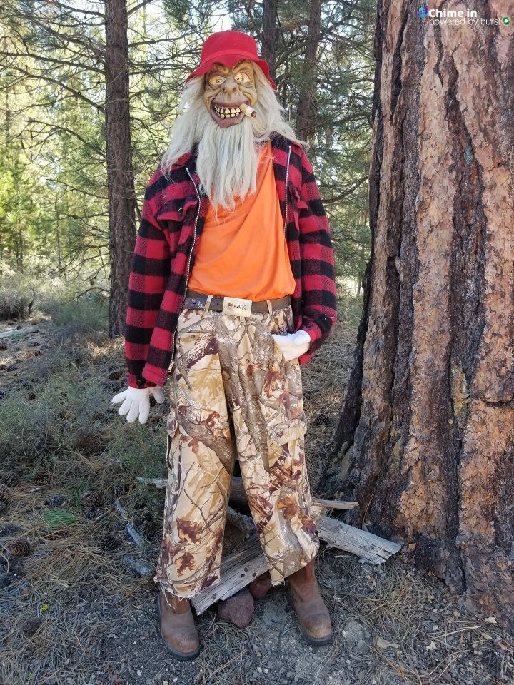 "Lani Lavonne Anderson{ }shared this photo of Mascot Hunter Frank via the CHIME IN tab on our website. ""He is 300 years old and still goes hunting,"" Anderson said."