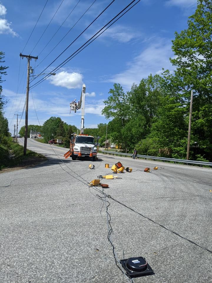 The Westbrook Fire Department says the intersection of Route 302 and Methodist Road was closed Thursday afternoon. (Westbrook Police Department)